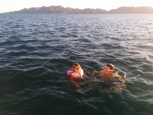 Swimming!!  Mag Bay